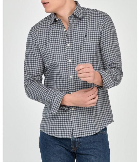 Hunter Club Collar Shirt Grey