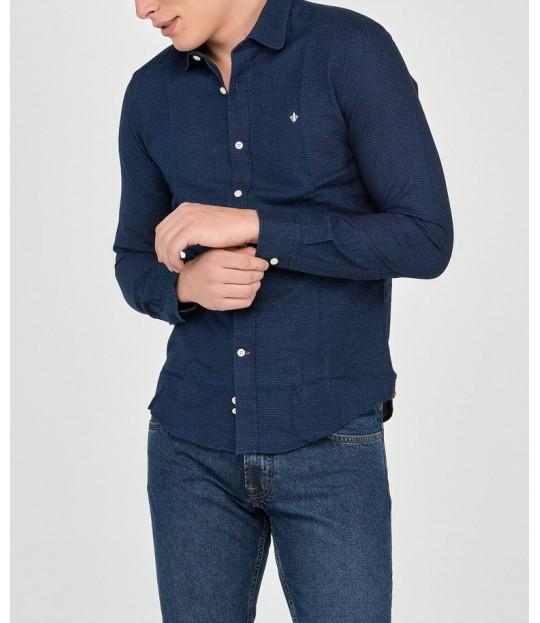 Clifford Club Collar Shirt Navy