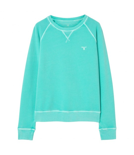 Sunbleached C-neck Sweat Bay Green