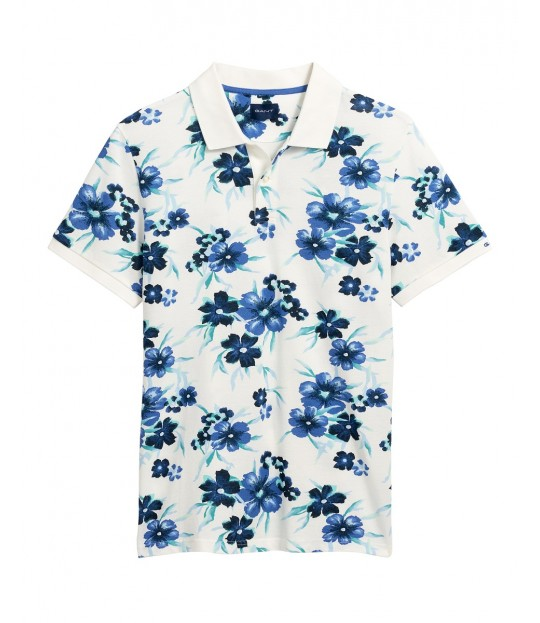 All Over Floral Pique ss White