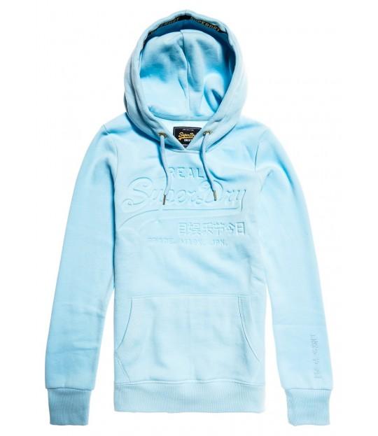 V Logo Pastel Deboss Entry Hood Blue