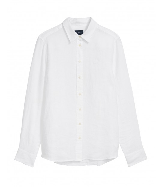 The Linen Chambray Shirt White