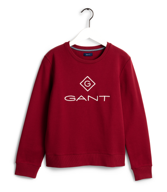 Gant Lock-Up Sweat Burgunder