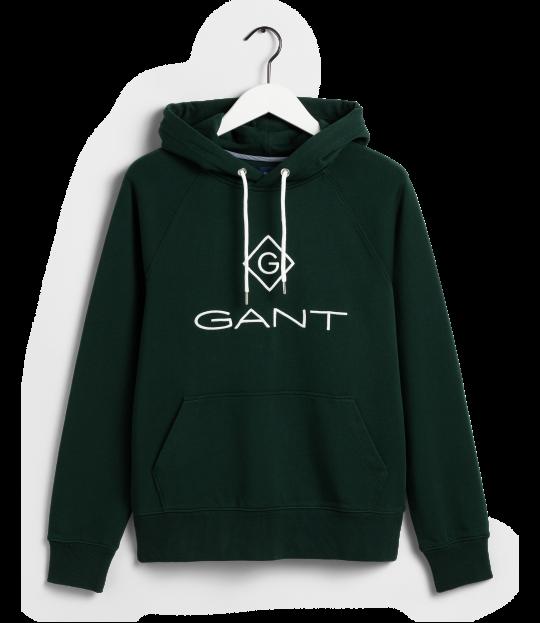 Gant Lock-Up Hoodie grønn