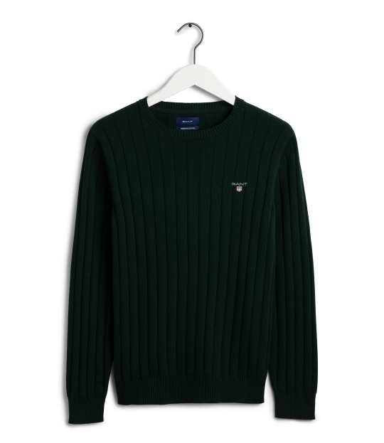Cotton Rib Crew Green
