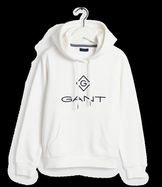 Gant Lock-Up Hoodie hvit